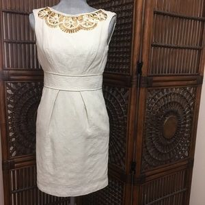 Milly Dresses & Skirts - Milly cream cocktail dress with beading