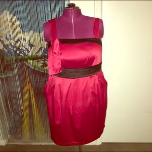 Torrid red sateen dress size 18