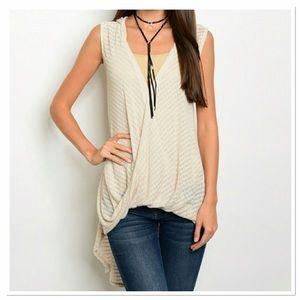 Threadzwear Tops - Draped Slub Knit Top