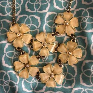 J Crew Flower Necklace