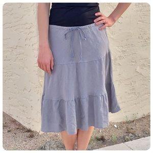 Allen Allen Dresses & Skirts - Allen Allen Linen Tiered Gray Skirt