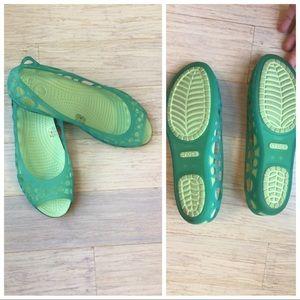 Jelly Crocs Flats Waterproof