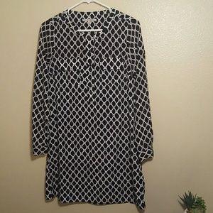 GAP black and white shirt dress
