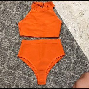 house of CB Other - Orange bandage halter bikini