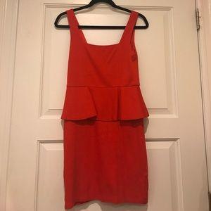 Red Alice and Olivia Peplum Dress