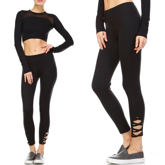 Bellanblue Pants - ESTHER athletic leggings - BLACK