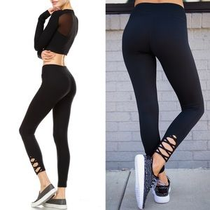 ESTHER athletic leggings - BLACK
