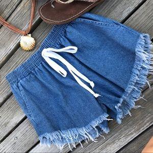 Pants - Denim Beach Shorts