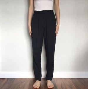 The Row Pants - The Row - Wool Blend Slim Leg Dress Pants