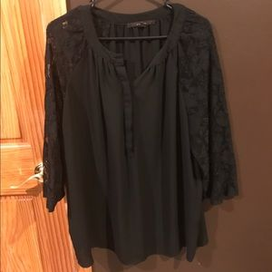 Fever London Tops - Fever brand 1x black and lace blouse