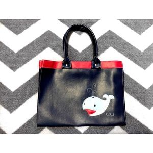 Paul Frank Handbags - Navy Blue and Red Dic the Whale Vinyl Purse
