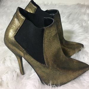 Forever 21 Shoes - ✨F21 Gold Ankle Boots ✨