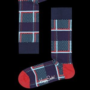 Happy Socks Other - 🆕 Happy Socks x Iris Apfel Tartan Sock