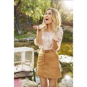 LC Lauren Conrad Dresses & Skirts - NWT Lauren Conrad Lace Up Skirt