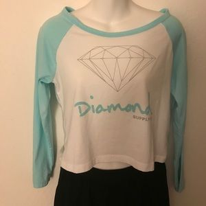 Diamond Supply Co. Tops - Diamond Supply crop baseball tee