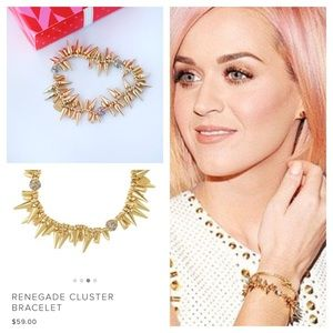 Stella & Dot Jewelry - Stella Dot RENEGADE CLUSTER Spikes BRACELET Gold