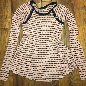 Free people sweater pink and black