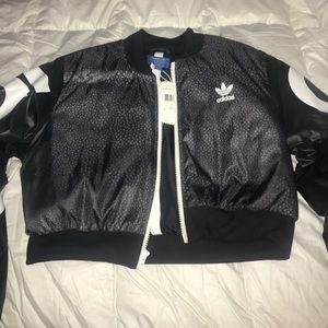 Adidas cropped bomber jacket
