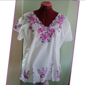 Stunning Embroidered Peasant Top