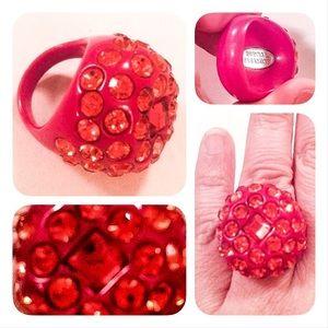 Tarina Tarantino Jewelry - Tarina Tarantino red rhinestone cocktail ring