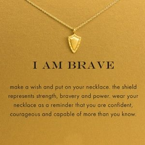 Dogeared Jewelry - I Am Brave Necklace