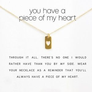 Dogeared Jewelry - You Have A Piece Of My Heart Necklace