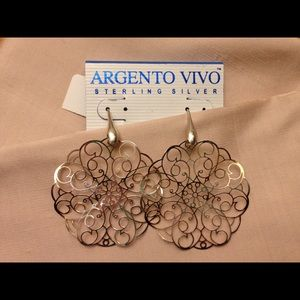 Argento Vivo Jewelry - Sterling Silver Pierced Earrings