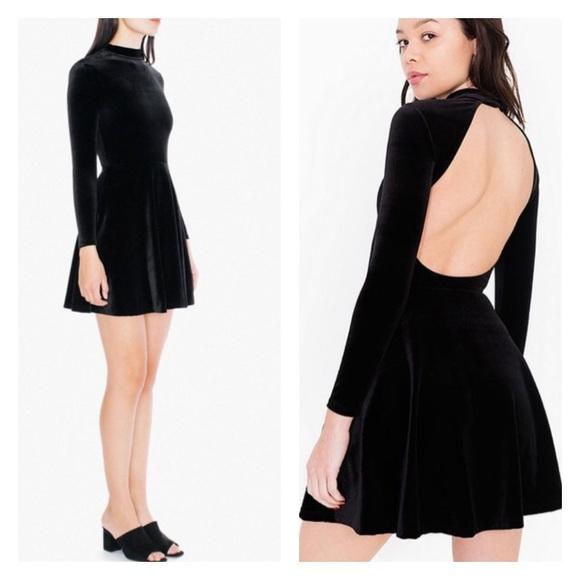3430c3553c American Apparel Dresses | Sale Black Violette Velvet Dress | Poshmark