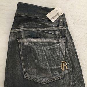 Rich & Skinny Denim - Rich & Skinny Metallic Gray Skinny Jeans sz 25x29