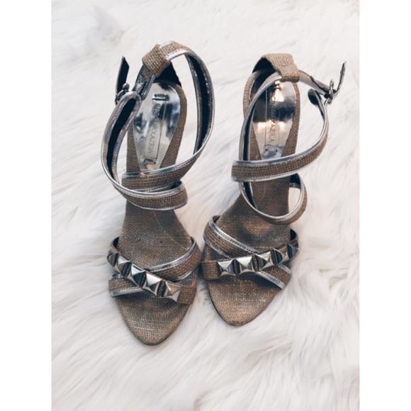 731972e3a8f BCBGMaxAzria Shoes - BCBG Maxazria Burlap Studded Sandal Heel 7.5