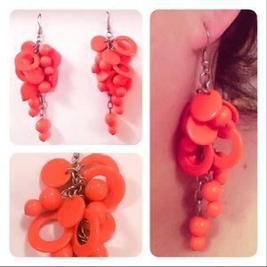 American Vintage Jewelry - Vintage orange earrings