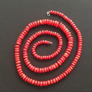 Vintage Jewelry - Vintage Coral Opera Length Necklace