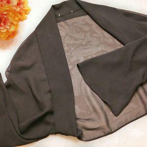 Black sheer shawl for formal attire