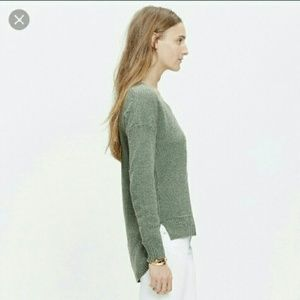 Madewell Chronicle Texture sweater in blue-green
