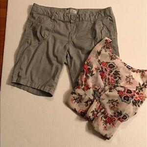 Paris Blues Pants - Khaki Green Shorts. Junior size 11