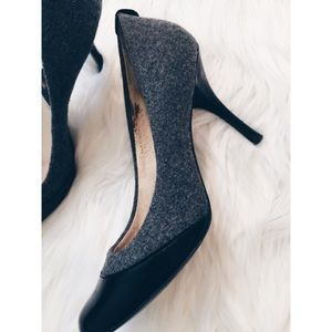 MICHAEL Michael Kors Shoes - Michael Kors Round Toed Black & Gray Heel Pumps 7