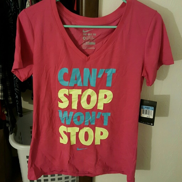 e68ad05a9 Nike Tops | Cant Stop Wont Stop Stay Cool Tee | Poshmark