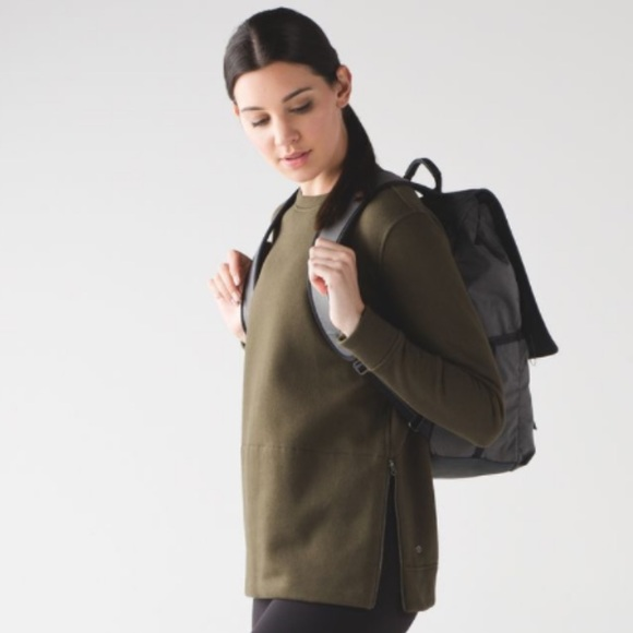 49% off lululemon athletica Tops - lululemon yes fleece pullover ...