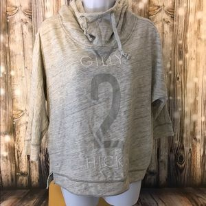 Gilly Hicks S grey batwing/cowl hoody