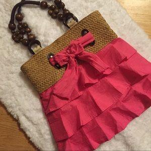 Handbags - Pink skirt style purse