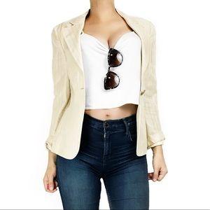 Armani Collezioni Jackets & Blazers - Armani collezioni linen pinstripe blazer