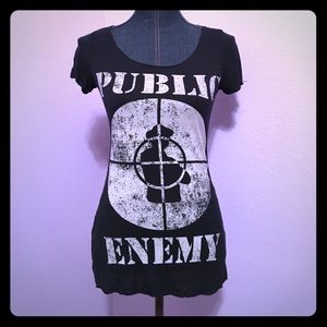 Chaser Tops - Public Enemy Fight The Power Baby Tee Shirt