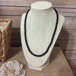 """Jewelry - 20"""" Black Agate Bead Necklace"""