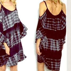 Boho Loco Fashion Boutique Tops - Cold Shoulder Tunic Dress