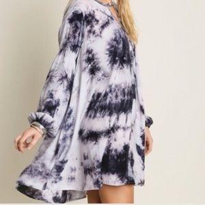 Boho Loco Fashion Boutique Tops - Splash Print Swing Tunic