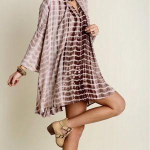 Boho Loco Fashion Boutique Tops - Tie Dye Trapeze Swing Tunic