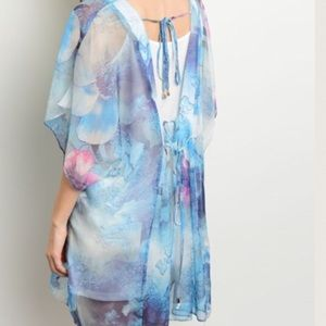 ❗️PRICE DROP Sheer Pastel Cape Tunic