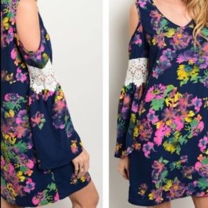 Boho Loco Fashion Boutique Tops - Floral Shift Tunic Dress