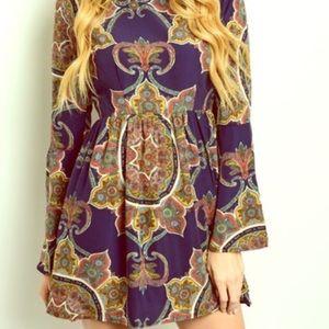 Boho Loco Fashion Boutique Tops - Paisley Tunic Dress