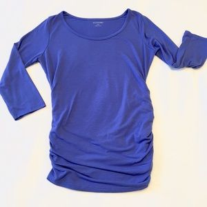 Motherhood Maternity Tops - Motherhood Maternity Blue Cotton Shirt